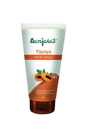 Banjaras Face Wash Papaya For Fair Skin 100 Ml Tube