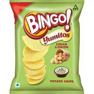 Bingo Yumitos Cream & Onion, 61.6 gm Pouch