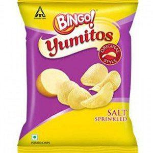 Bingo Yumitos Potato Chips - Original Style, Salt, 35 gm