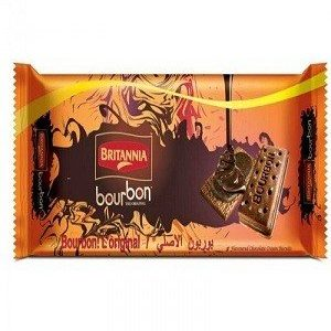 Britannia Bourbon Cream Biscuit – Chocolate Flavor, 60 gm pouch