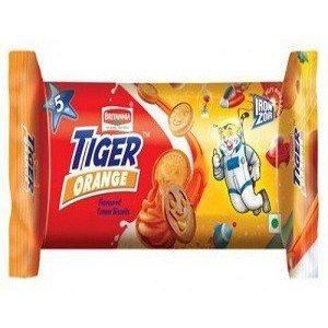Britannia Tiger Cream Biscuits – Orange, 43 gm Pouch