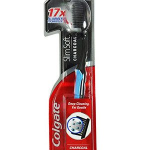 Colgate Toothbrush Slim Soft Charcoal 1 Pc Pouch