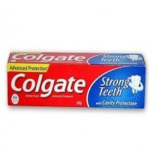 Colgate Toothpaste Strong Teeth Dental Cream Anti Cavity 15 Grams Carton