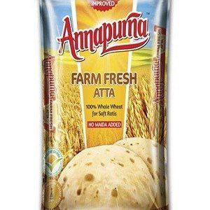 Annapurna Farm Fresh Atta, 1 kg Pouch