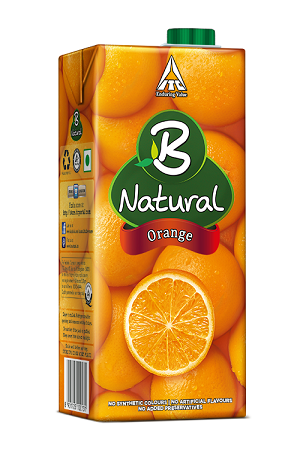 B Natural Juice - Orange Oomph, 1 lt Carton