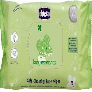 Chicco Baby Moments Wipes – No Flip Cover, 1 pc Set of 144 pcs