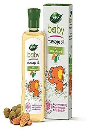 Dabur Baby massage oil with Olive & Almond 200 ml