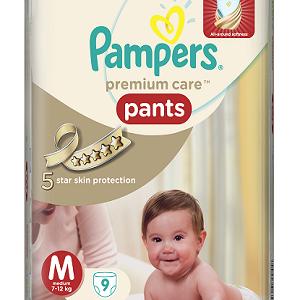 Pampers Premium Care Pants Diapers – Medium Size, 9 pcs