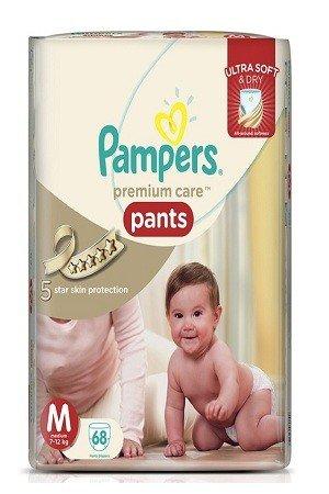 Pampers Premium Care Pants Diapers – Medium Size, 68 pcs