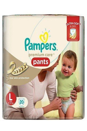 Pampers Active Baby Diapers – Large Size, 18 pcs