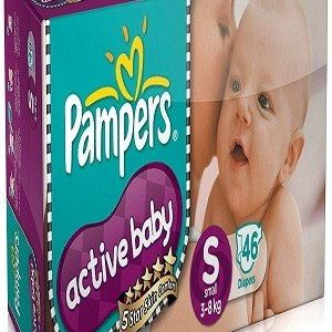 Pampers Active Baby Diapers – Samll Size, 22 pcs