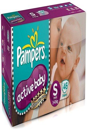 Pampers Active Baby Diapers – Samll Size, 46 pcs