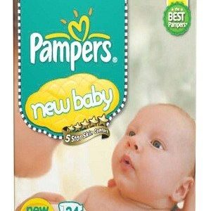 Pampers Active Baby Diapers New Born Size 24 pcs Pouch