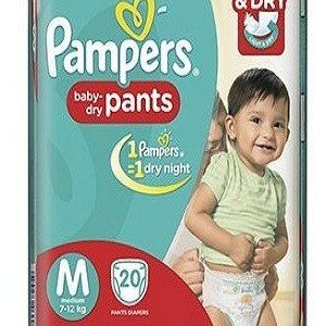 Pampers Pants Diapers – Medium Size, 20 pcs Pouch