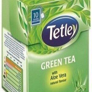 Tetley Green Tea Bags Aloe Vera 10 Pcs Carton