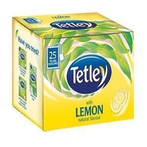 Tetley Tea Bags Lemon 25 Pcs Carton