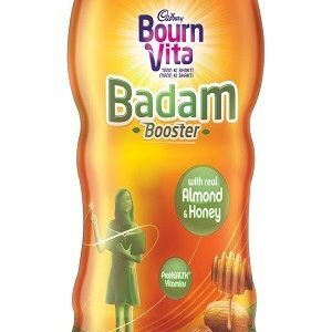 Bournvita Badam Booster Chocolate Drink Honey And Almond 400 Grams Jar