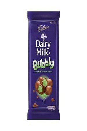 Cadbury Dairy Milk – Bubbly with Mint Flavoured, Imported, 155 gm
