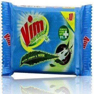 Vim Antigerm Dishwash Bar – Lemon & Neem, 125 gm