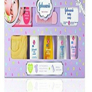Johnson's Baby Care Collection – with Organic Cotton Baby One-Piece Romper & Baby Milestone Book, 11 pcs