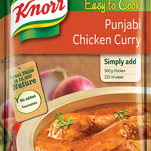 Knorr Easy To Cook – Punjabi Chicken Curry Ready Mix, 46 gm Pouch