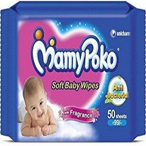 Mamy Poko Baby Wipes, 100 pcs Pouch ( Pack of 2 )