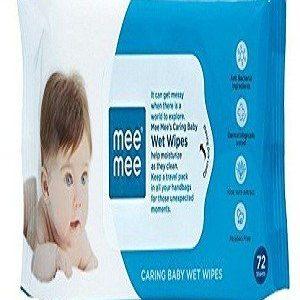 Mee Mee Baby Wet Wipes – Lemon Fragrance, 72 pcs ( Pack of 3 )