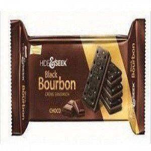 Parle Hide & Seek – Black Bourbon Creme Sandwich (Chocolate Flavor), 100 gm Pouch