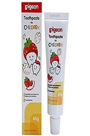 Pigeon Children Tooth Paste Natural Strawberry Flavor 45 gm