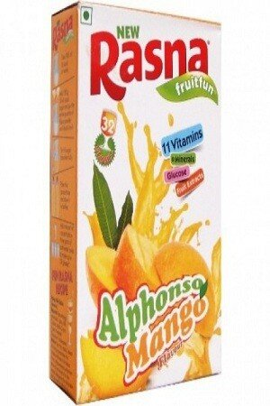 Rasna Fruit Plus Alphonso Mango 500 Grams Pouch