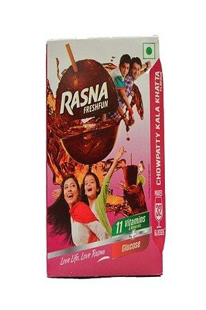 Rasna Fruitfun – Chowpatty Kala Khatta Flavor, 120 gm (32 Glasses) Carton