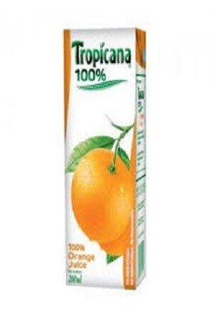 Tropicana 100 Percent Juice Orange 200 Ml Carton