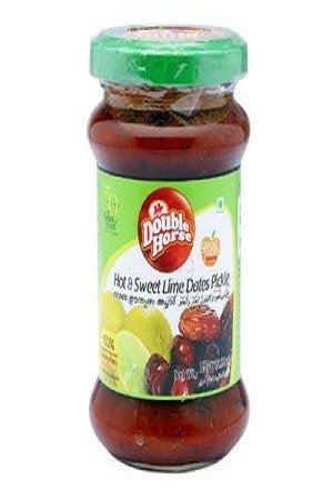 Double horse Pickle – Hot & Sweet Dates, 150 gm Bottle