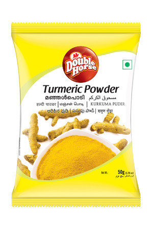 Double horse Powder – Turmeric, 100 gm Pouch