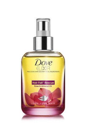 Dove Elixir Hair Fall Rescue Rose And Amp Almond Hair Oil 90 Ml Bottle