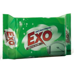 Exo Dish Wash Bar - Anti Bacterial With cyclozan, 130 gm Pouch
