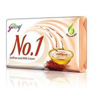Godrej No 1 Bathing Soap Saffron And Milk Cream 100 Grams Pack Of 4