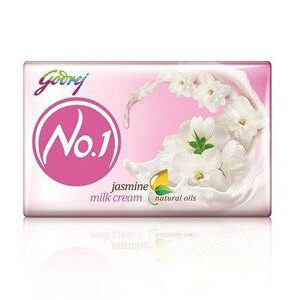 Godrej No 1 Bathing Soap Jasmine And Milk Cream 100 Grams Pack Of 4