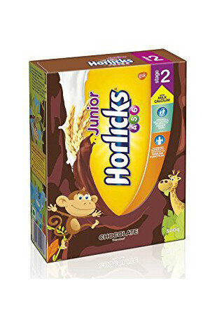 Horlicks Junior Health And Nutrition Drink Chocolate Flavour Stage 2 4 6 years 500 gm Carton