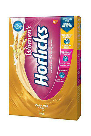 Horlicks Women's Health and Nutrition Drink Caramel Flavour 400 gm Carton
