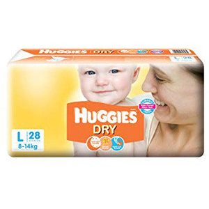Huggies Diapers - Large Size, New Dry, 28 pcs