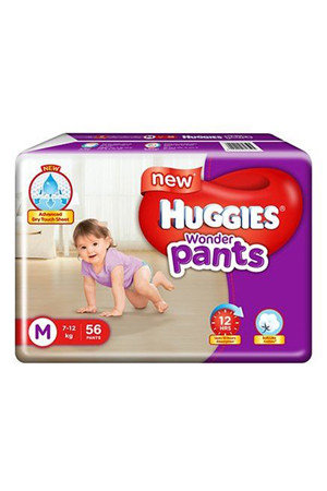 Huggies Wonder Pants Diapers – Medium, 56 pcs Pouch