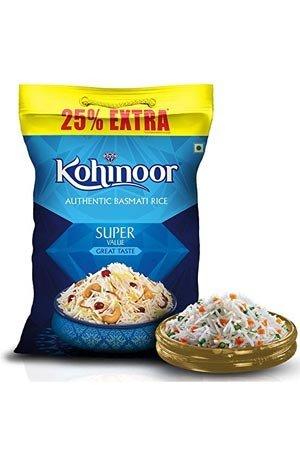 Kohinoor Basmati Rice – Super Value, 25% Extra, 1 kg