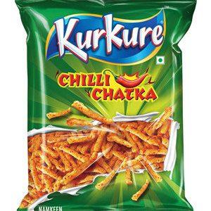 Kurkure Namkeen Chilli Chatka 21.5 gm