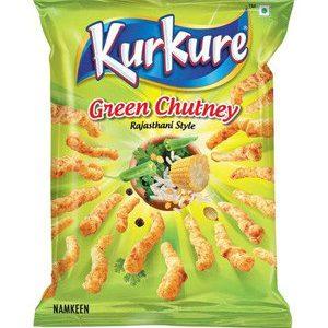Kurkure Namkeen Green Chutney Rajasthani Style 21.5 gm