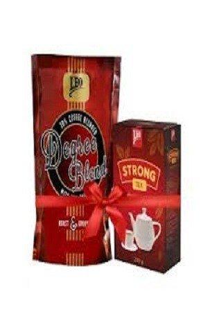Leo Coffee Degree blend 500 Grams Plus Leo Strong Tea Combo Pack