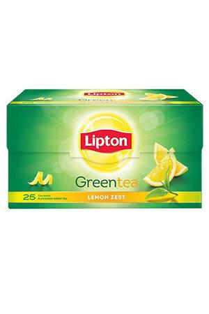 Lipton Green Tea - Lemon Zest, 10 pcs