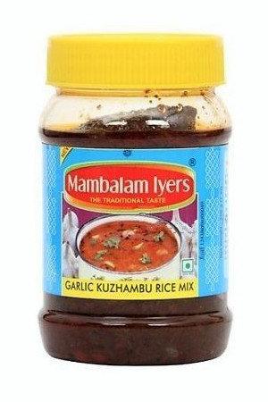 Mambalam Iyers Garlic Kuzhambu Rice Mix 200 Grams Bottle