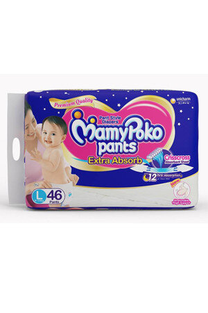 Mamypoko Pants Extra Absorb Diaper - Large, 46 pcs Pouch