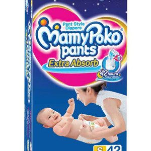Mamy Poko Pants Style Diapers – Small, 4-8 Kg, 42 pcs
